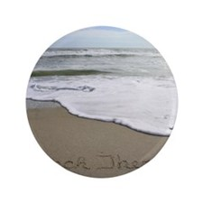 "Beach Therapy by Beachwrite 3.5"" Button"