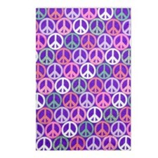 Glitter Peace Signs copyy Postcards (Package of 8)