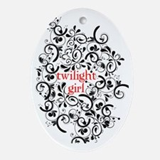 TwilightGirl copy Oval Ornament