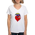 Punk Rock Heart Anti V Day Women's V-Neck T-Shirt