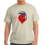 Punk Rock Heart Anti Valentine Day Light T-Shirt
