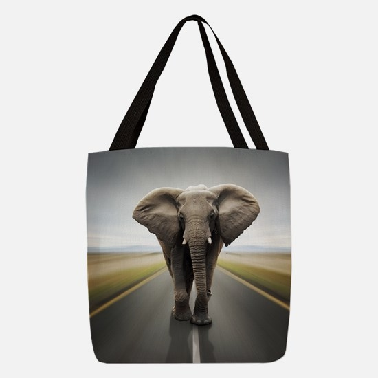 Elephant Trucker Polyester Tote Bag