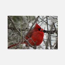 Red Bird Rectangle Magnet