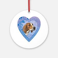 TreeWalker-heart Round Ornament