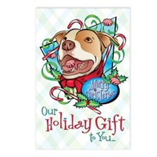 Peppermint Bark Card Fron Postcards (Package of 8)