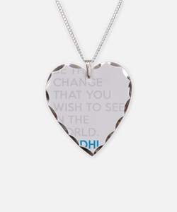 Ghandi Be The Change Quote Necklace