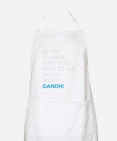 Ghandi Be The Change Quote Apron