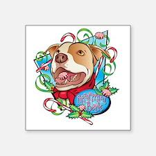 "Peppermint Bark Square Sticker 3"" x 3"""
