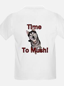 Siberian Husky Sled Dog Time to Mush Kids T-Shirt