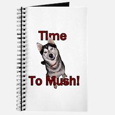 Siberian Husky Sled Dog Time to Mush Journal