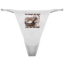 Siberian Husky Sled Dog Time to Mush Classic Thong
