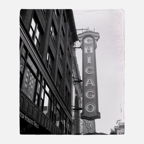 Chicago Theater Throw Blanket