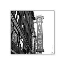 """Chicago Theater Square Sticker 3"""" x 3"""""""