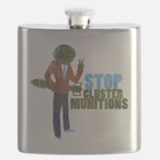 Stop Cluster Munitions Flask