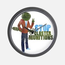 Stop Cluster Munitions Wall Clock