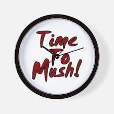 Siberian Husky Sled Dog Time to Mush Wall Clock