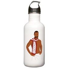 manta clause no text Water Bottle