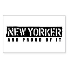 New Yorker 1 Rectangle Decal