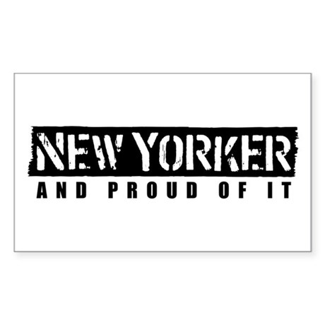 New Yorker 1 Rectangle Sticker