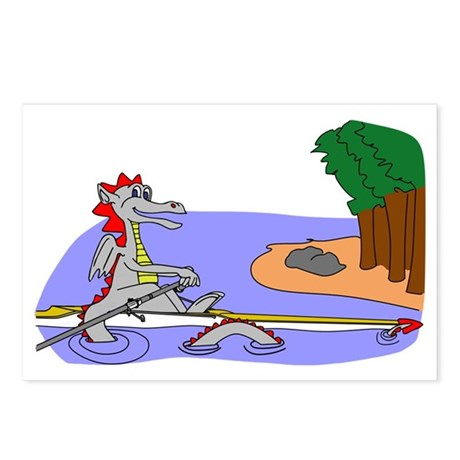 Rowing Dragon Postcards (Package of 8)
