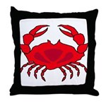 Boiled Crab Throw Pillow