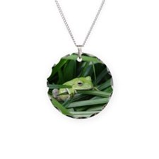 notecard tree frog Necklace