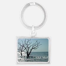 postcard edisto ghost trees Landscape Keychain