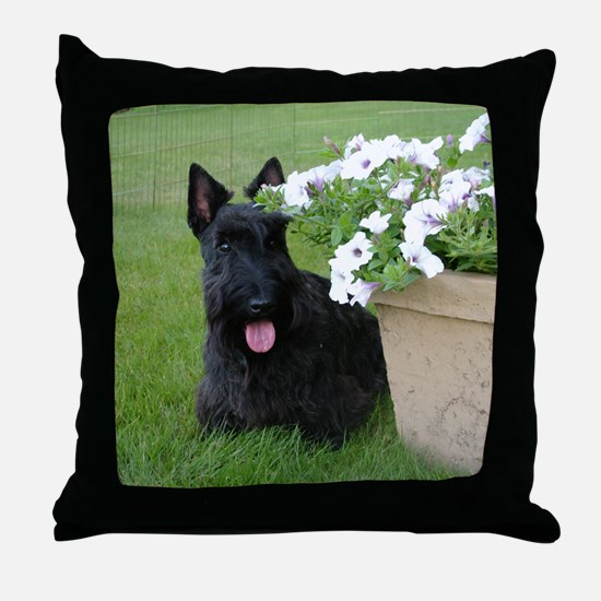 DuganPetunias Throw Pillow