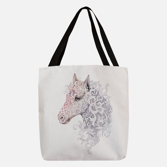 Horse Head Tattoo Polyester Tote Bag