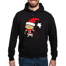1212 Santa Baby with brown teddy twi Hoodie