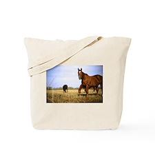 Grazing Horses Tote Bag