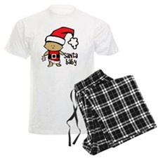 1212 Santa Baby with pink ted Pajamas
