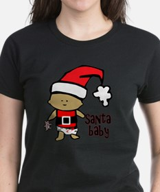 1212 Santa Baby with pink ted Tee