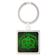 Gaelic-Love-Knot-poster Square Keychain