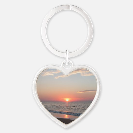calendar january edisto sunrise Heart Keychain