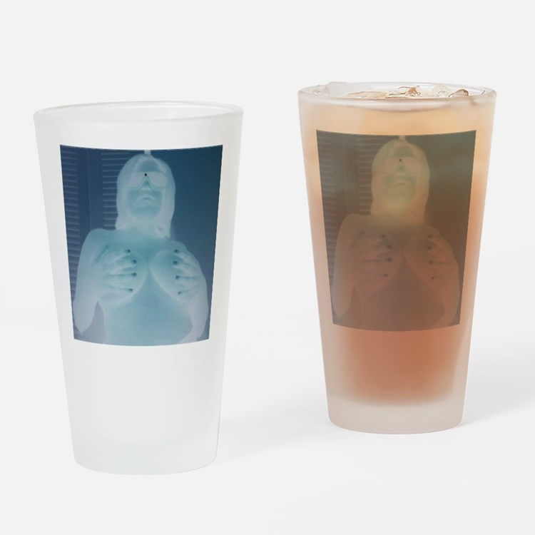 naked lady Drinking Glass