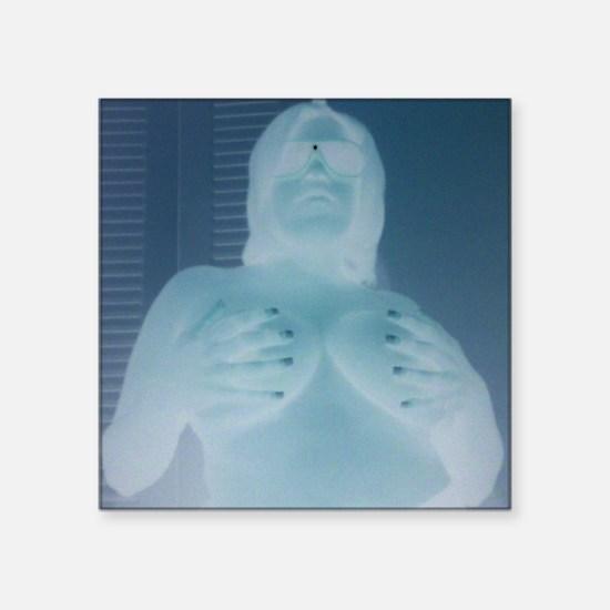 "naked lady Square Sticker 3"" x 3"""