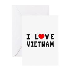 I Love Vietnam Greeting Card
