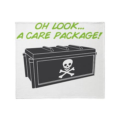 carepackage_on black Throw Blanket