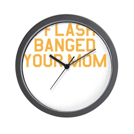 flashbang_on-black Wall Clock