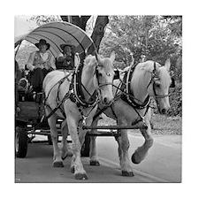 Horse and Wagon Tile Coaster
