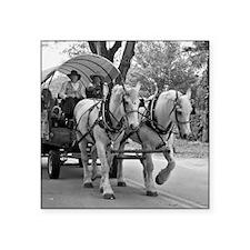 "Horse and Wagon Square Sticker 3"" x 3"""