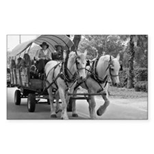Horse and Wagon Decal