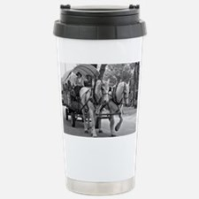Horse and Wagon Travel Mug