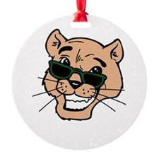 wh color, cougar with shades Ornament