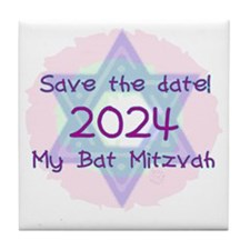 save_the_date_2024 Tile Coaster