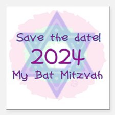 """save_the_date_2024 Square Car Magnet 3"""" x 3"""""""