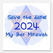 """save_the_date_2024_bar Square Car Magnet 3"""" x 3"""""""