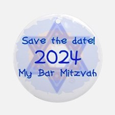 save_the_date_2024_bar Round Ornament