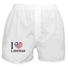 I love Liberia Boxer Shorts
